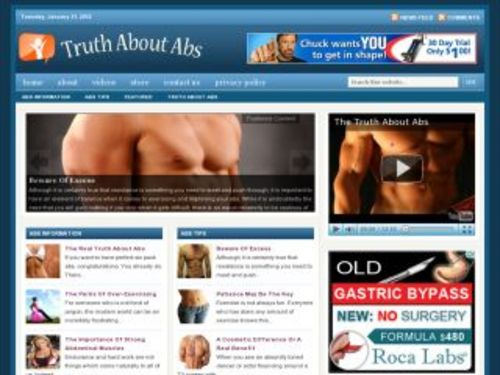 Product picture Truth About Abs Niche Blog w/ PLR