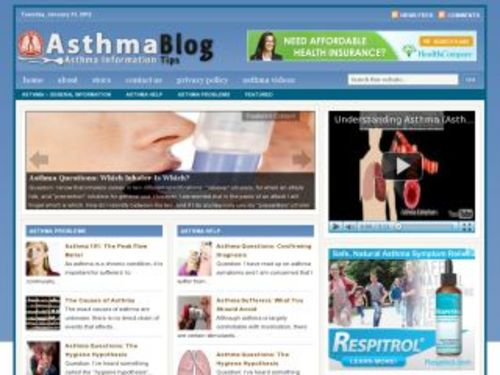 Product picture Asthma Health Niche Blog w/ PLR