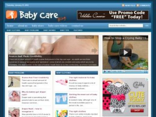 Product picture Baby Care Health Niche Blog w/ PLR