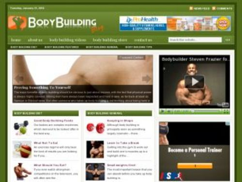 Product picture Body Building Health Niche Blog w/ PLR