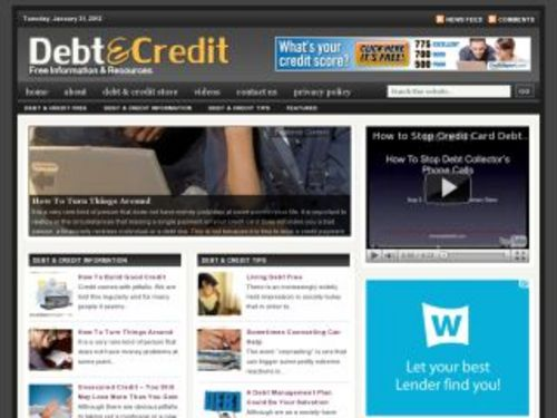 Product picture Debt Credit Niche Blog w/ PLR
