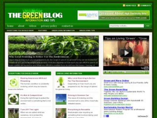 Product picture Going Green Niche Blog w/ PLR