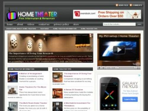 Product picture Home Theater Electronics Niche Blog w/ PLR