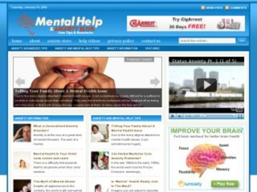 Product picture Mental Help Health Niche Blog w/ PLR
