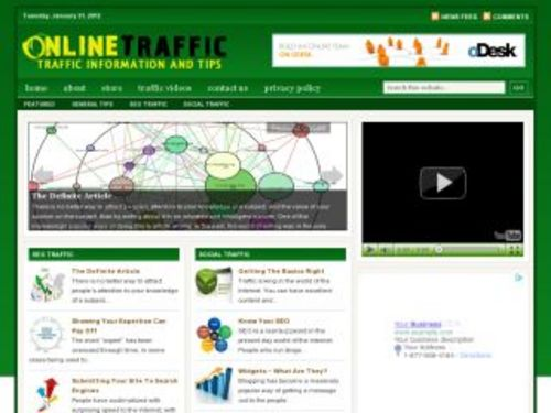 Product picture Online Traffic Marketing Niche Blog w/ PLR
