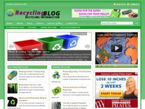Product picture Recycling Green Niche Blog w/ PLR